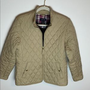 Land's End Quilted Tan Jacket - size 10/12